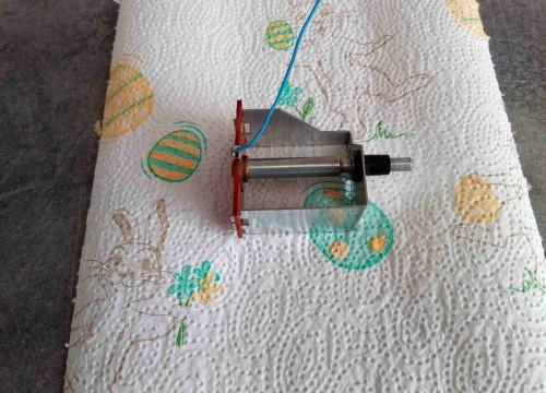 Seilwelle mit isolierplatte