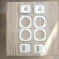 Metallblenden in weiß